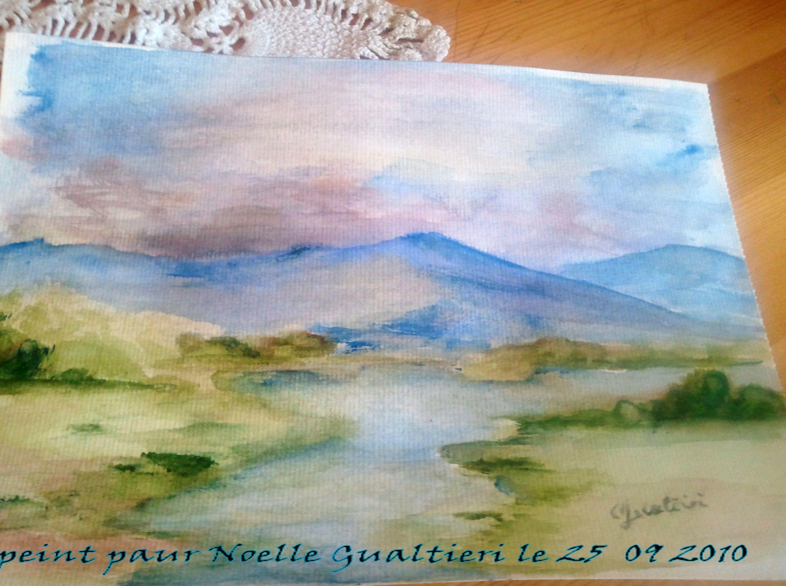 Paysage aquarelle for Aquarelle facile